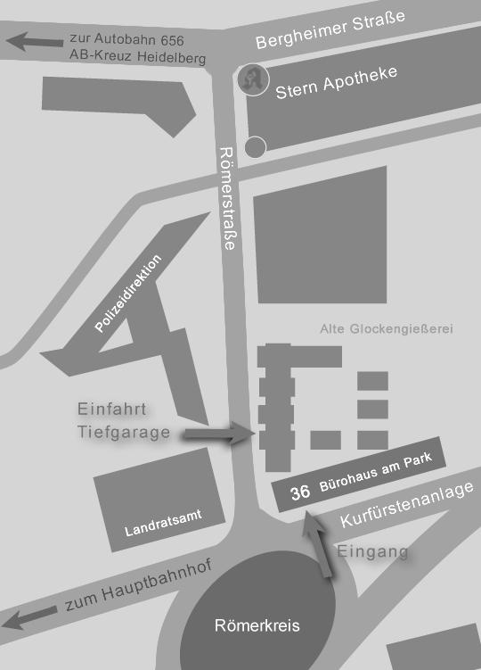 Anfahrt Anwaltskanzlei Liebers Klein Betz sw